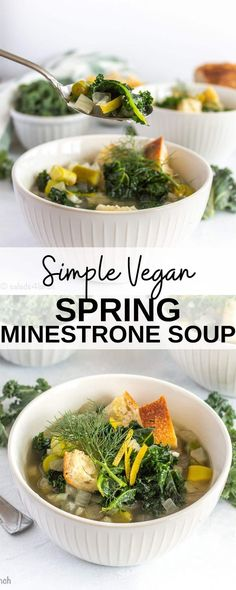 This healthy Vegan Spring Minestrone soup recipe is a delicious celebration of spring vegetables. Asparagus, kale, and fennel all shine in this minestrone soup. Vegetarian Lunch, Vegetarian Cooking, Vegetarian Recipes, Beginner Running, Running Tips, Runners Food, Dairy Free Soup, Onion Vegetable, Vegan Party Food