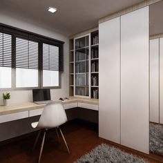 """This 4-room HDB apartment is an excellent example of how subtle mix and match can be. What is interesting about the interior is that the designer opts for more modern flooring materials in the dining room, such as tiles, but still sticks to parquet in the bedroom and other rooms. A separate wall of tiles with flower motives in the kitchen is what breathes life and style into the interior. The kitchen features a laundry corner, but the washing machine is """"hidden"""" in a subtle way. In the…"""