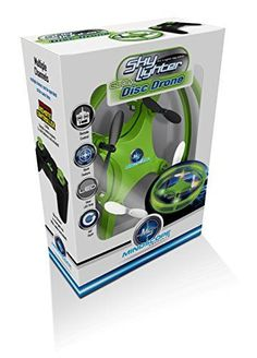 Mindscope Sky Lighter Disc Drone Green Light Up LED Glow Stunt Action Radio Control RC Technology -- See this great product.
