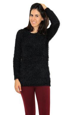 be7e6aa20f Compre online  blusa felpuda com brilho Hollywood. Oficina de Inverno