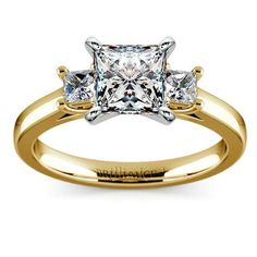 Open that doorway into a new, beautiful beginning together with the classic elegance of the Princess Diamond Ring in Yellow Gold, with two perfectly matched Princess diamonds accentuating your own choice of center stone!  http://www.brilliance.com/engagement-rings/princess-diamond-ring-yellow-gold-1/4-ctw