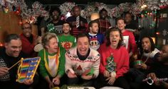 One Direction, Jimmy Fallon, Roots Sing 'Santa Claus' With Classroom Instruments.     YESSSSSSSSSSS