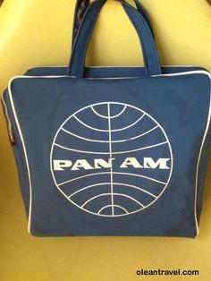 Pan Am VINTAGE  square carry on bag, travel bag PAN AM - http://oleantravel.com/pan-am-vintage-square-carry-on-bag-travel-bag-pan-am