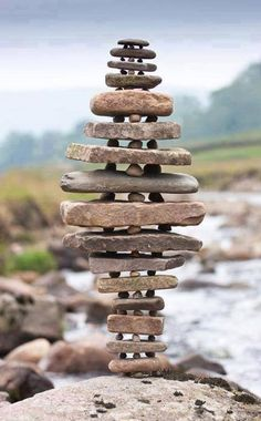 """An example of """"Gravity Glue' by artist Michael Grab. All created with ordinary stones and no glue, his natural sculptures are simply extraordinary."""