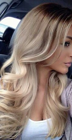 gorgeous blond ombre loose open curls