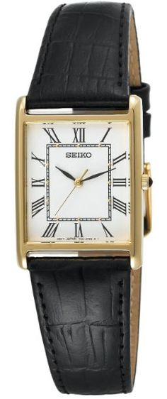 Seiko Men's Dress Watch with Leather Band  OLD SCHOOL