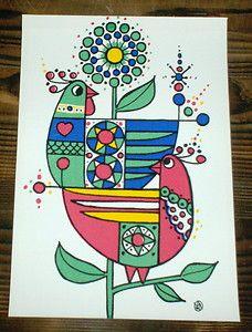 Textile Print from 1968 - design Lars Nyman