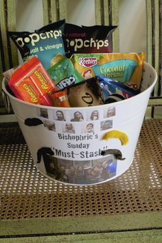 "Bishopric snacks for those long days at the office....""Must-Stash"" Service Project for YW activity"