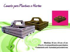 Canasta para Plantines o Hierbas