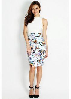 KLARRA Madeline Floral Pencil Skirt