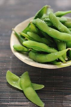 Edamame is a great calcium-packed snack.