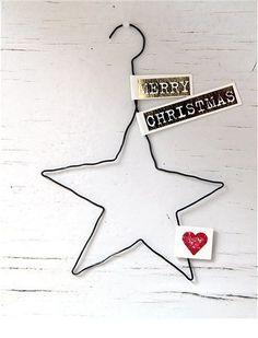 Drahtanhänger Weihnachten m Text 2
