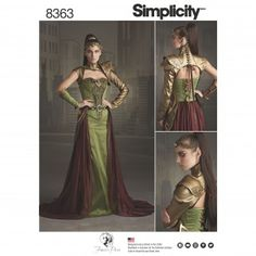Simplicity Ladies Sewing Pattern 8363 Fantasy Ranger Costume | Sewing | Patterns | Minerva Crafts