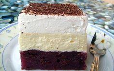 Kinder mliečny rez - rýchly a výborný koláčik bez múky! No Bake Desserts, Dessert Recipes, Kolaci I Torte, Croatian Recipes, Ramadan Recipes, English Food, Sweet Tarts, Love Cake, No Bake Cake