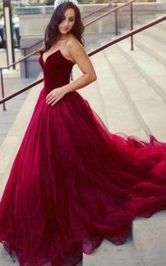 Custom Made Cute Prom Dress Long, Burgundy Party Dresses Custom Prom Dress Burgundy Prom Dress Cute Prom Dress Prom Dresses Prom Dresses 2019 Red Ball Gowns, Ball Gowns Prom, Party Gowns, Ball Dresses, Formal Dresses, Special Dresses, Dance Dresses, Evening Dresses, Casual Dresses