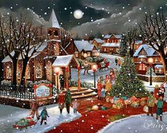 MOVING Snowing Twinkling Christmas Scene - Snowing Christmas Scene Gif mb                                                                                                                                                                                 More