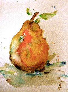 Unknown artist, this relates to my content also very beautiful use of watercolors Watercolor Fruit, Fruit Painting, Watercolor Drawing, Watercolor And Ink, Watercolor Flowers, Painting & Drawing, Watercolor Artists, Pintura Graffiti, Watercolor Pictures