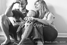 This was our pregnancy announcement for our second baby!