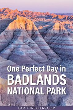 Best of Badlands National Park in one day. Best overlooks, best hikes, best places to spot wildlife. How to do this from Rapid City, the Black Hills, or Wall, South Dakota. #badlands #nationalpark
