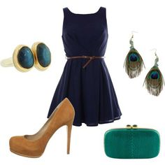 I just love these colors! Great classic dress that can be worn a ton of different ways. I need a great tan pair of pumps, also.