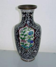 RARE Breathtaking CLOISONNE Fine VASE Early 20th Century MARKED China plus LABEL    eBay