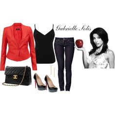 Gabrielle Solis-red and black