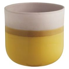 DIPPY Yellow dipped ceramic plant pot 18 x Garden Furniture Design, Ceramic Plant Pots, Al Fresco Dining, Back Gardens, Get Outside, Potted Plants, Dips, Sweet Home, Planters