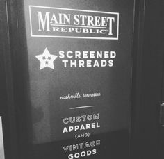 We are located in the Marathon Village right in the heart of Nashville! Main Street Republic and Screened Threads are here working together to bring you the coolest tshirts and vintage around town. Shop local! #shoplocal #vintage #mainstreetrepublic #screenedthreads #nashville #tshirts #marathonvillage