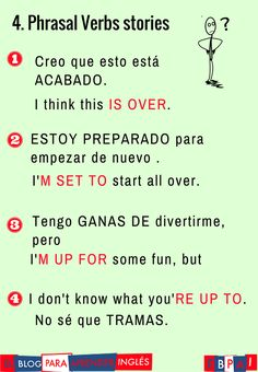 Cap. 4 PHRASAL VERB STORY- To be OVER, to be SET, to be UP FOR, to be UP TO http://elblogdelingles.blogspot.com.es/2017/05/4-i-dont-know-what-youre-up-to-phrasal.html