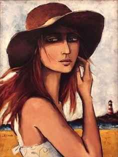 Risultati immagini per jennifer yoswa paintings Art And Illustration, Rockaway Beach, Woman Painting, Face Art, Portrait Art, Figurative Art, Mixed Media Art, Art Images, Illustrators