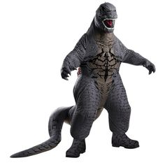 Godzilla inflatable costume for adults - fun to wear - and nobody will guess that it's you
