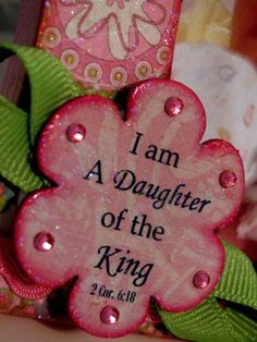 I am daughter of the King --- SO want to make something like this for JJ! :)