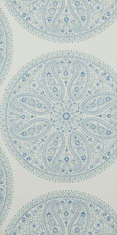 Paisley Circles Blue DCAVPC103 Sanderson Wallpaper