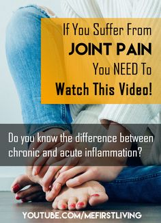 Is your joint pain caused by chronic inflammation or acute inflammation? If you don't know, watch this Turmeric For Inflammation, Need To Know, Did You Know, Arthritis, Watch, Reading, Health, Youtube, Fitness