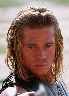 Fabio would be proud of the long, loose curls and messy braids, but it's a little hard to take a Greek warrior like Achilles seriously