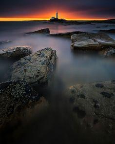 St. Mary's Lighthouse, Bait Island, UK