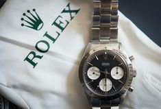 Historical Perspectives: The Very First Rolex Daytona, Explained (Or, What Is A Double-Swiss Underline Daytona?) - HODINKEE Rolex Watches, Watches For Men, Daytona Watch, London Watch, Rolex Cosmograph Daytona, Watch Companies, Vintage Watches, Omega Watch, Jewerly
