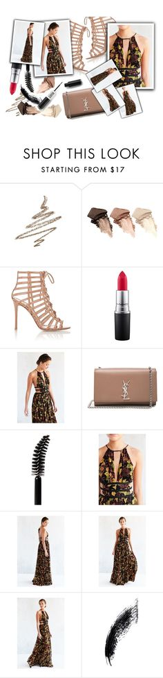 """""""Nude New Year"""" by clari-castelli ❤ liked on Polyvore featuring Anastasia Beverly Hills, Urban Decay, Gianvito Rossi, MAC Cosmetics, Ecote, Yves Saint Laurent and LORAC"""