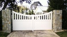 solid timber gates for side entrance