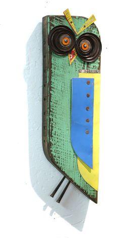Posts about greg corman written by Practical Art Scrap Recycling, Wood Block Crafts, Welding Art Projects, Barn Wood Crafts, Wood Owls, Wood Animal, Metal Garden Art, Found Object Art, Owl Crafts