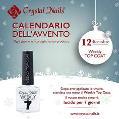 Calendario dell'avvento Crystal Nails - 12 dicembre #topcoat #crystalnails