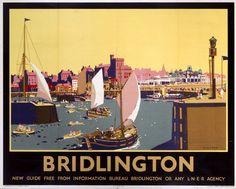 London & North Eastern Railway. 'Bridlington' by Frank Mason, 1930