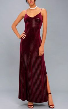 Studio Lounge Burgundy Velvet Sequin Maxi Dress Best Maxi Dresses, Formal Dresses, Sequin Maxi, Red Maxi, Burgundy Color, Sequins, Lounge, Velvet, Studio