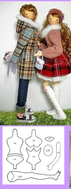 LOOK at *PATTERN*-below- for bodice and foot opening-different to how I have shaped, sewn and stuffed the body before. Pretty Dolls, Cute Dolls, Beautiful Dolls, Doll Clothes Patterns, Doll Patterns, Sewing Patterns, Doll Crafts, Diy Doll, Plush Dolls