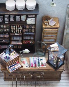 """""""❤︎❤︎❤︎ ・ original handmade miniature size12/1 ・ ・ ミニチュアの手芸屋さんに お付き合いくださいまして…"""