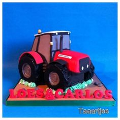 Tractor cake By Taaartjes on CakeCentral.com