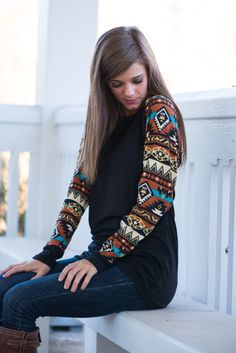 Patterned sleeves are seriously so cute!! Especially this one!!