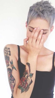 20+ Pixie Hairstyle for Gray Hair #hairstyle #pixie