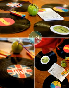 Beatles theme centerpieces