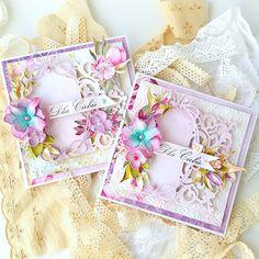 ScrapMan - Mariusz Gierszewski Memory Box Cards, Romantic Cards, Shabby Chic Cards, Cute Cards, Homemade Cards, Wedding Anniversary, Wedding Cards, Cardmaking, Decorative Boxes